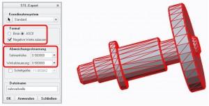 STL-Exportparameter