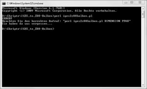 Perl-Skript-Aufruf mit Fehlermeldung