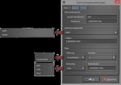 Abbildung 1: Optimierungsparameter (1)
