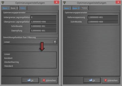 Abbildung 2: Optimierungsparameter (2)
